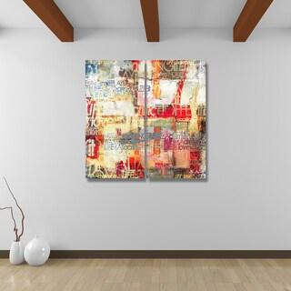 Alexis Bueno 'Bueno Exchange XXI' Canvas Diptych Art Print