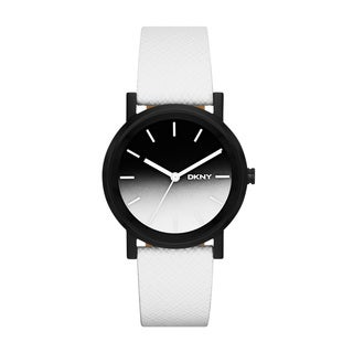 DKNY Women's NY2185 SoHo White Saffiano Watch