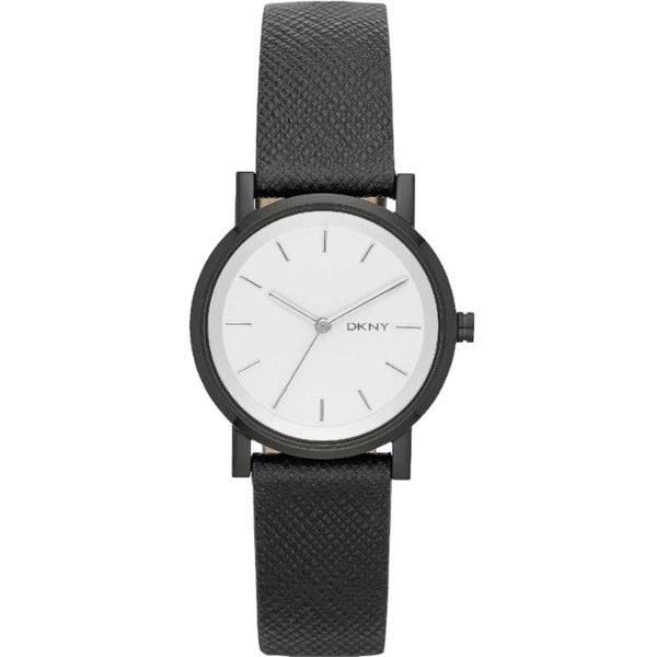 DKNY Women's NY2186 Soho Black Saffiano Leather Watch