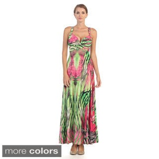 Hadari Women's Sweetheart Empire Waist Maxi Dress