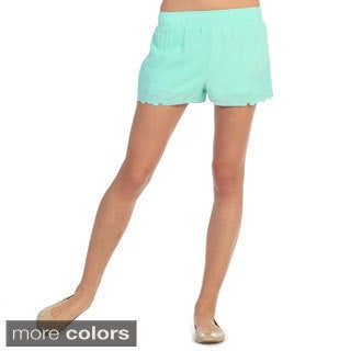 Hadari Women's Pastel Embroidered Shorts