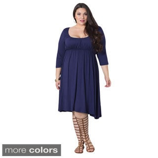 Sealed With a Kiss Juliet Women's Plus-size Empire Waist Dress