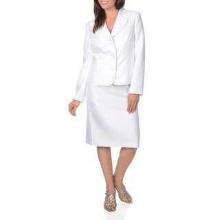 Danillo Women's White Novelty Skirt Suit
