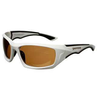 Pepper's Men's Matte White Floating Polarized Sunglasses