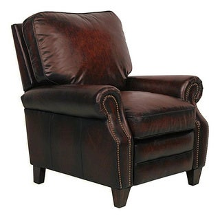Briarwood II Stetson Bordeaux Leather Recliner