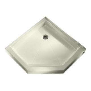 American Standard Triple Threshold Neo-Angle Linen Corner Shower Base