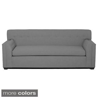 inncdesign Red Maisy Button-tufted Contemporary Sofa