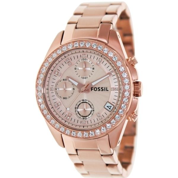 Fossil Women's ES3352 Decker Rose Gold Chronograph Watch