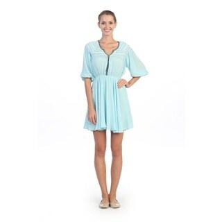 Hadari Tribal Peasent Sheath 3/4-length Sleeve Dress