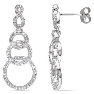 Miadora Sterling Silver 1/3ct TDW Diamond Dangle Earrings (H-I, I2-I3)