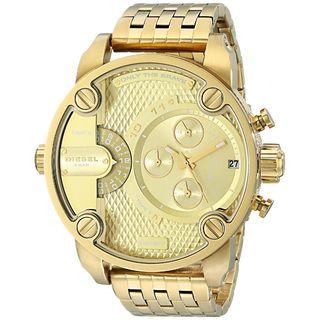 Diesel Men's DZ7287 'Little Daddy' Goldtone Chronograph Bracelet Watch
