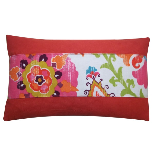 Petal Pieces Red Pillow