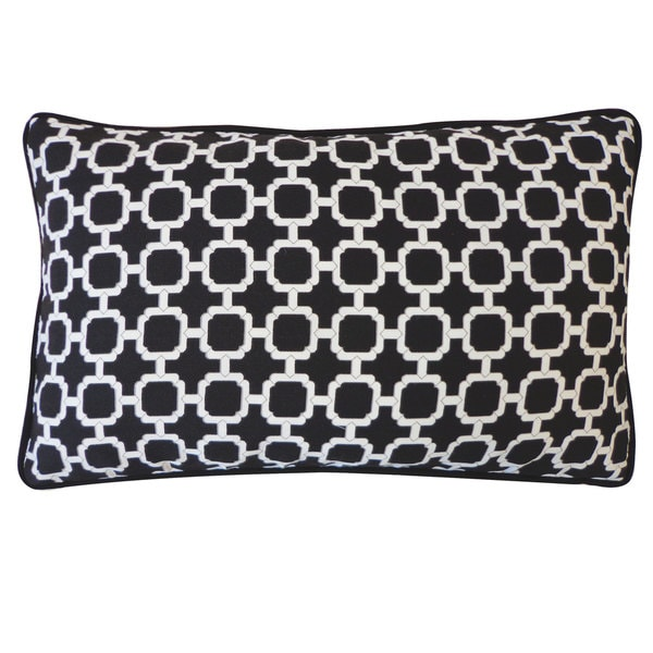 Blocks Black Pillow