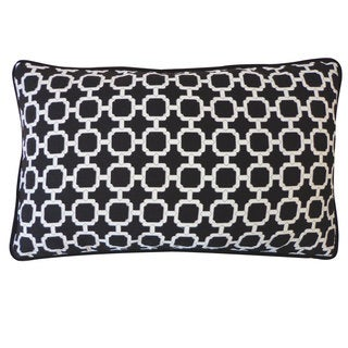 Blocks Black Pillow
