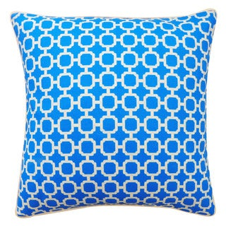 Blocks Blue Pillow