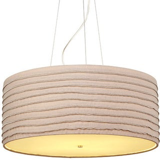 Zip Suspension Fixture with Brown Shade and Opal Glass