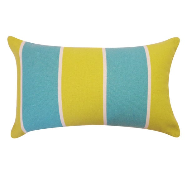 Ocean Stripe Blue Green Pillow