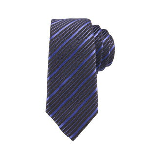 DIBI Dark Purple Striped Tie