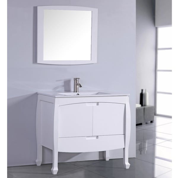 Popular Windham Soft White 30inch Bath Vanity With 2 Doors Bottom Drawer And