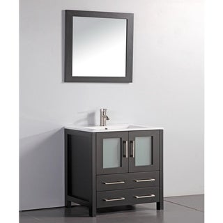 ceramic top 30 inch sink espresso bathroom vanity and