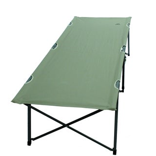 Alps Mountaineering 8222014 Green Aluminum Polyester Large 40x6x5-inch 20-pounds Escalade Cot