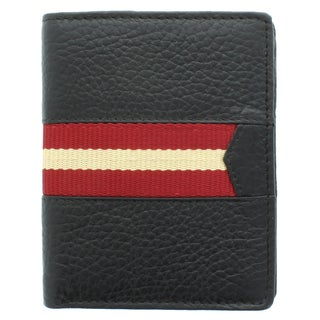 Unico Corp Fashion Men's Leather Bi-fold Striped Wallet