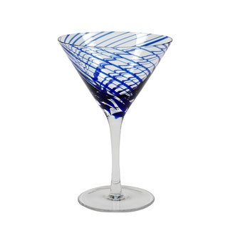 Hand-crafted Marbella Martini Glasses (Set of 4)