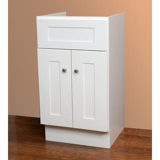 Small Linen White Bathroom Vanity