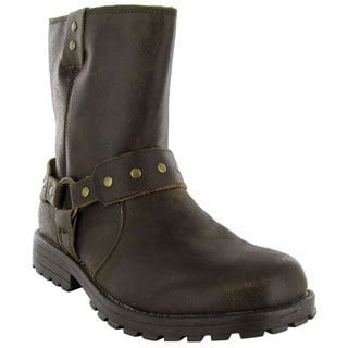 Skechers Men's 'Zenith-Igore' Brown Leather Zip-up Boots