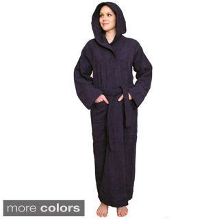 NDK New York Women's Hooded Terry Cloth Bathrobe