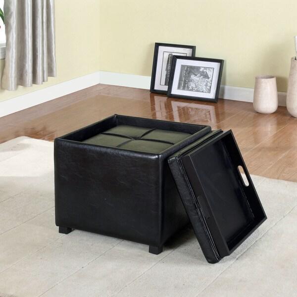 Furniture Of America Lydian Leatherette Nesting Storage