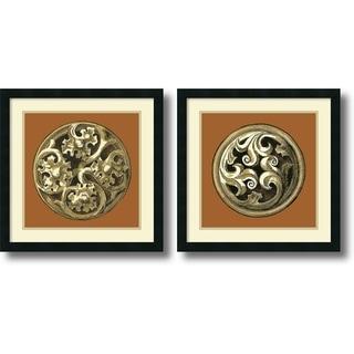 Vision Studio 'Graphic Medallion IV and V- set of 2' Framed Art Print 21 x 21-inch Each
