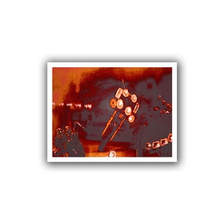 Dean Uhlinger 'Cycles and Smoke' Unwrapped Canvas