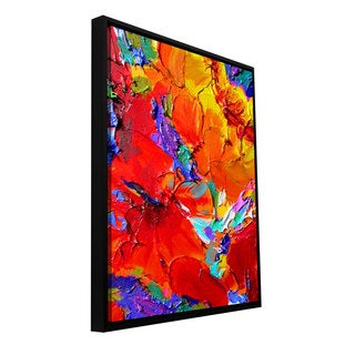 Susi Franco 'Charlits Floral' Floater Framed Gallery-wrapped Canvas