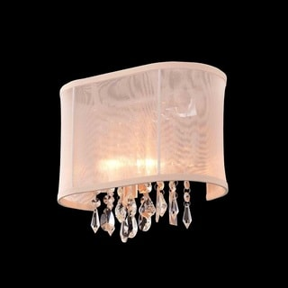 Single-light Chrome/ Clear Crystal Wall Sconce