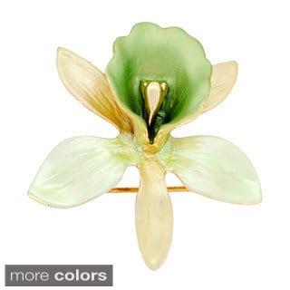 Orchid Flower Brooch Pin
