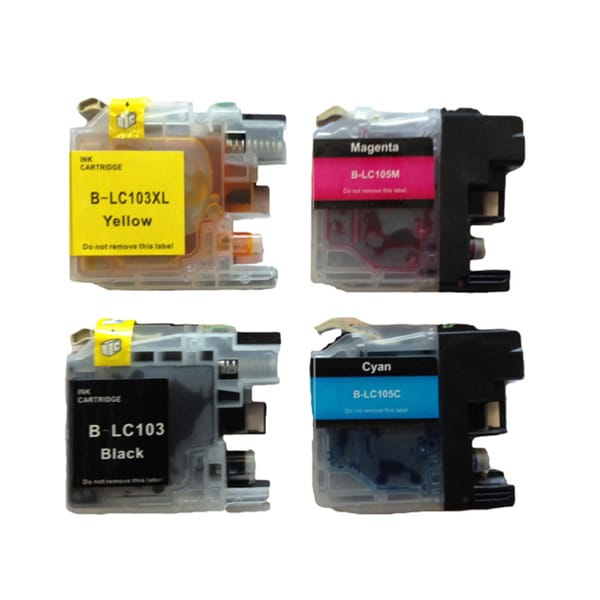 Replacement Brother LC103 LC-103 Compatible Ink Cartridge Set (Pack of 4)