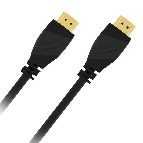 GearIT High-speed Black 2.0 HDMI Cable (Pack of 2)
