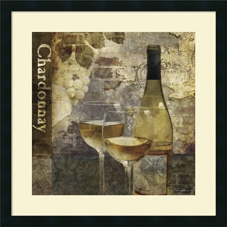 Keith Mallett 'Chardonnay' Framed Art Print 25 x 25-inch