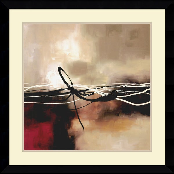 Laurie Maitland 'Symphony in Red and Khaki II' Framed Art Print 33 x 33-inch