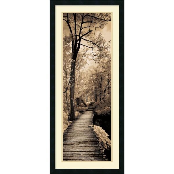 Ily Szilagyi 'A Quiet Stroll I' Framed Art Print 18 x 42-inch