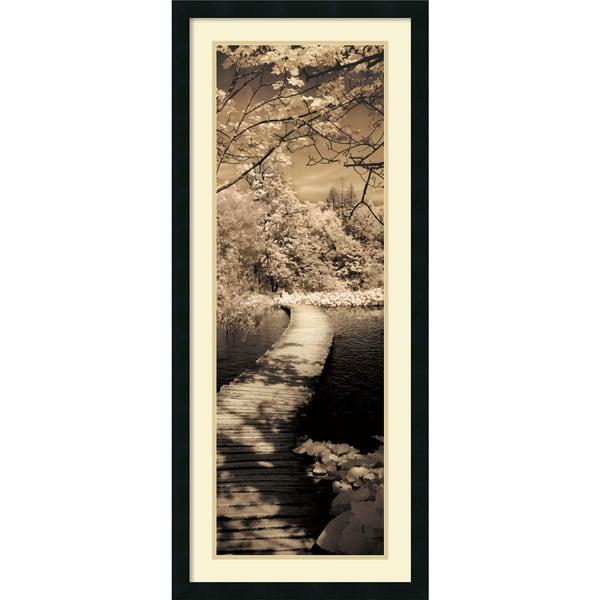 Ily Szilagyi 'A Quiet Stroll II' Framed Art Print 18 x 42-inch