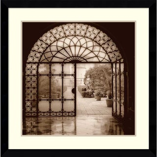 Alan Blaustein 'Courtyard in Venezia' Framed Art Print 33 x 33-inch