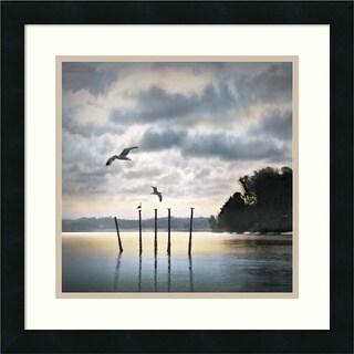 William Vanscoy 'Circling Skies' Framed Art Print 18 x 18-inch