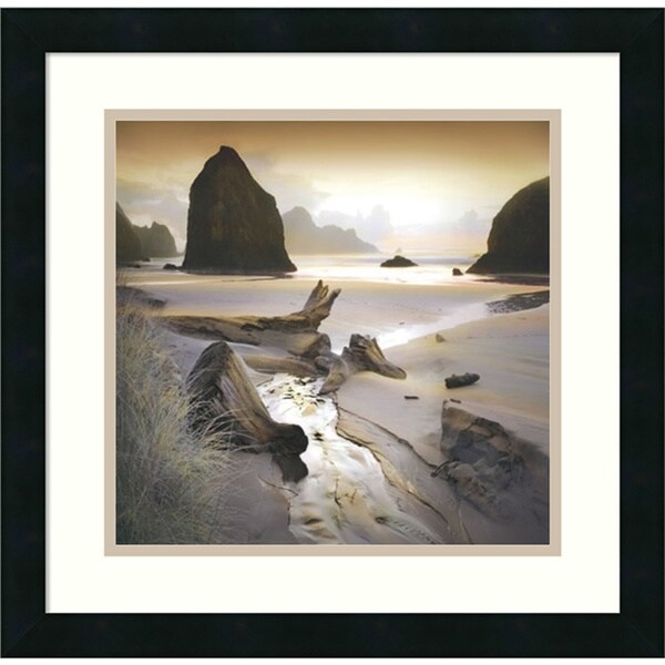 William Vanscoy 'She Sleeps In The Sand' Framed Art Print 18 x 18-inch