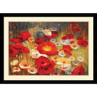 Lucas Santini 'Meadow Poppies I' Framed Art Print 43 x 31-inch