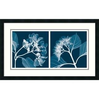 Steven N. Meyers 'Hydrangeas (Negative)' Framed Art Print 33 x 20-inch
