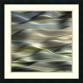 J.P. Clive 'Undulation 5' Framed Art Print 24 x 24-inch