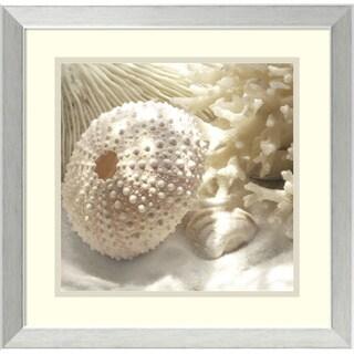 Donna Geissler 'Coral Shell I' Framed Art Print 18 x 18-inch