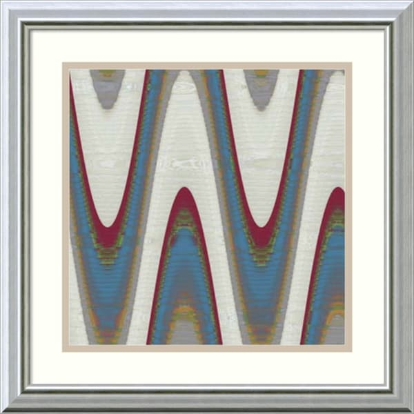 Ricki Mountain 'Radio Waves II' Framed Art Print 18 x 18-inch